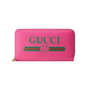 New NwT Gucci long zip around leather wallet